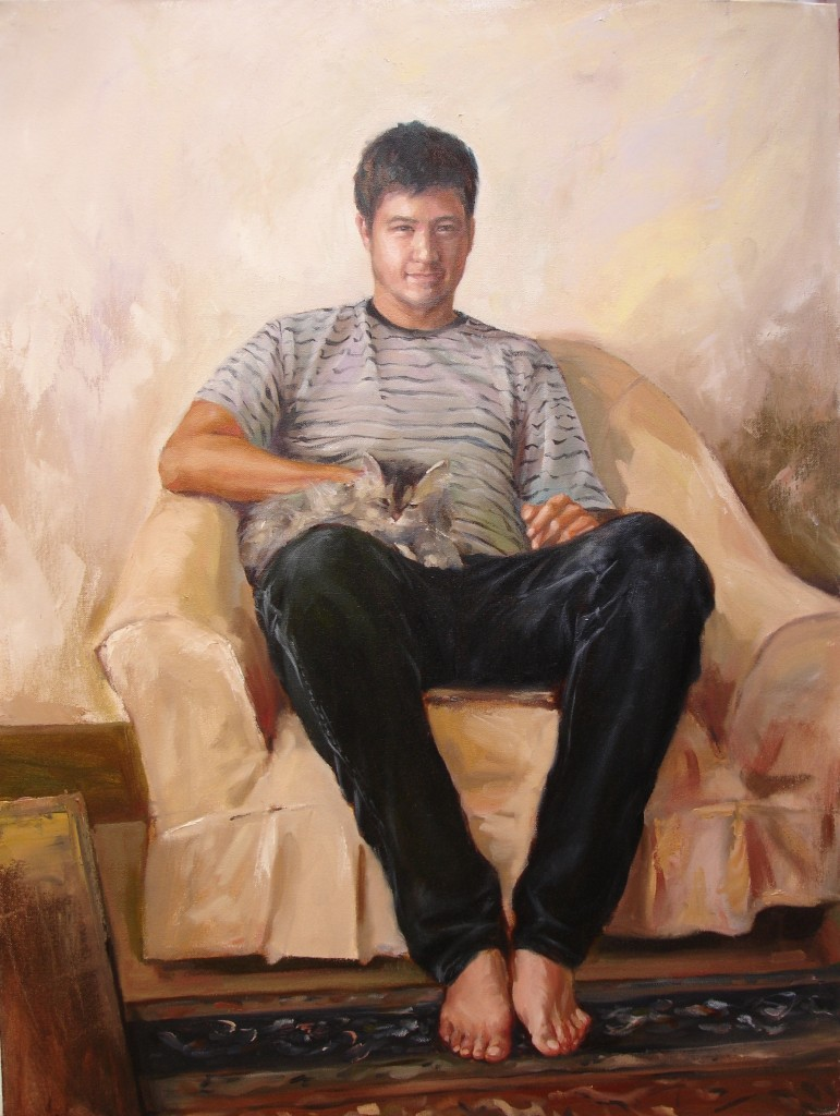 2006 portrait of Kareem 100x70cm oil on linen