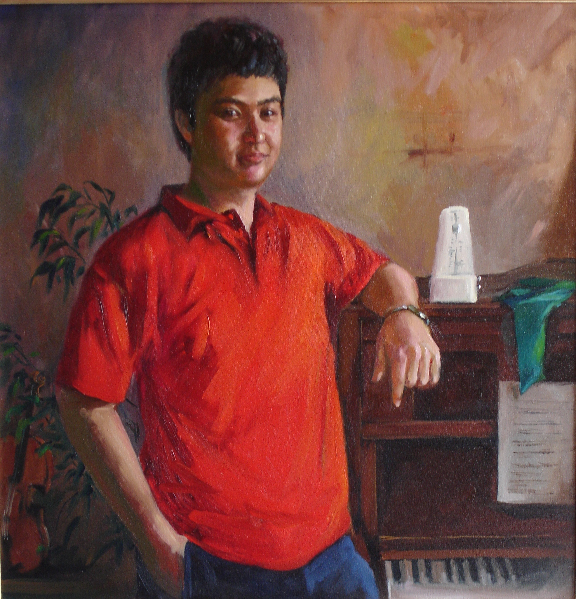 2006 portrait of Shereef, oil on canvas 25x25in