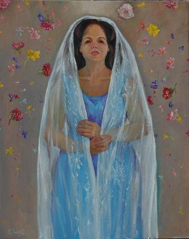 2015永遠的新娘 40F, Oil on Canvas (Small)