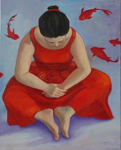 2015 待嫁女兒, 40F,Oil on Canvas 2015 (Small)