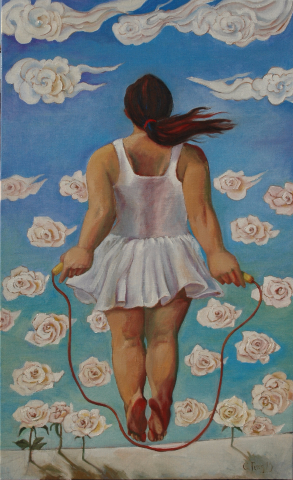 2015 Jump 躍 60M Oil on Linen 2015 馮孝英 (Small)