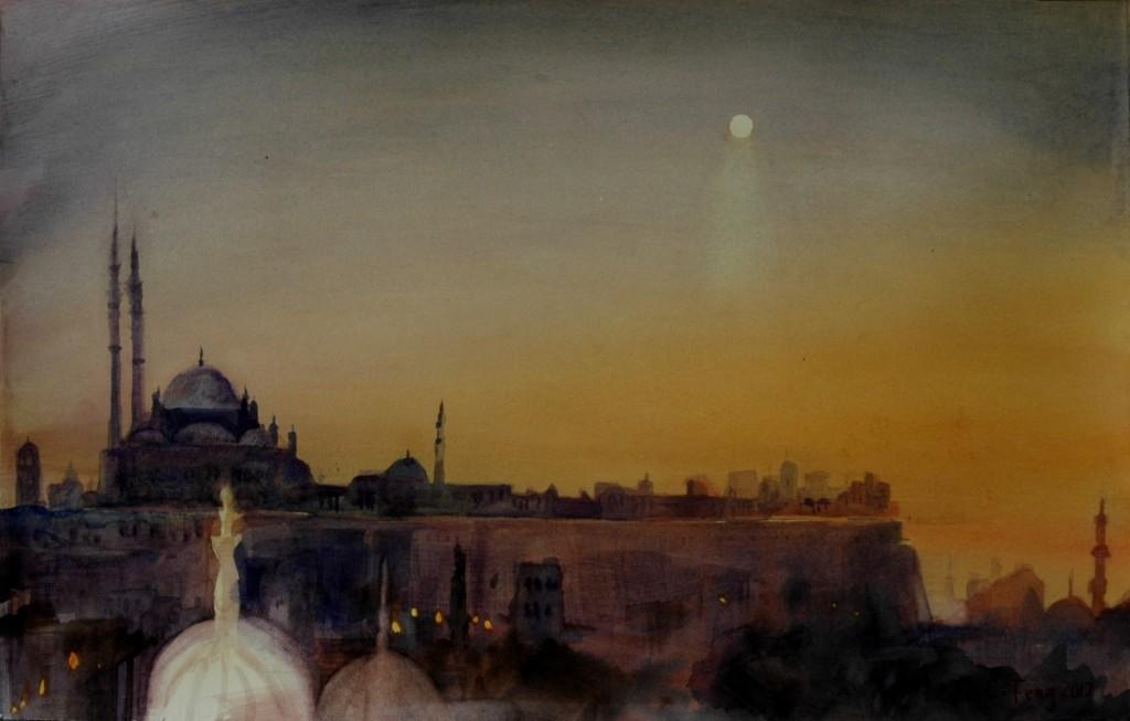 Citadel, watercolor, 22x15, 2012,sold (Medium)