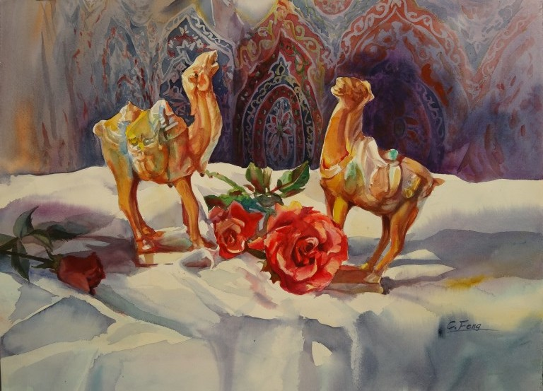 Desert Song, watercolor, 45x60cm,2007 (Medium)