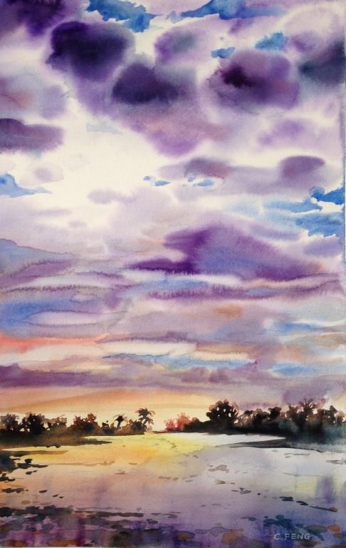River, watercolor, 2004 (Medium)