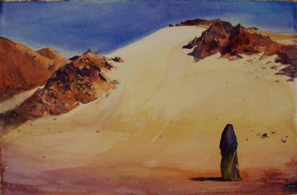 Sinai, watercolor,15x22 2012 (Medium)