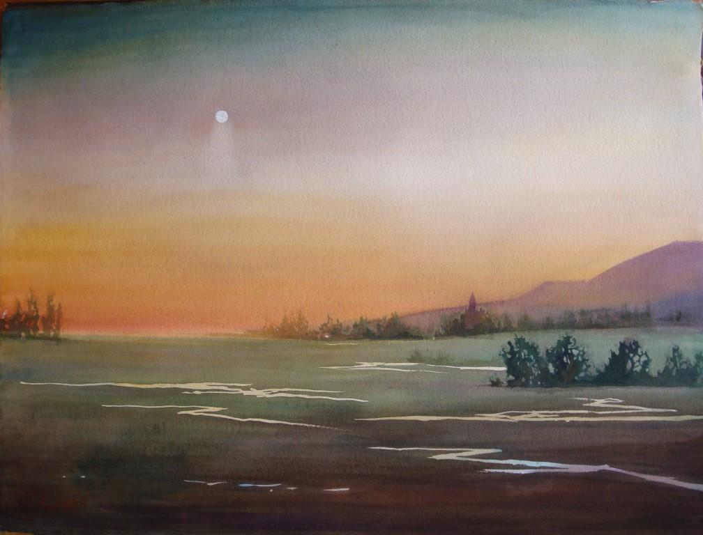 Sunset Watercolor (2) (Medium)