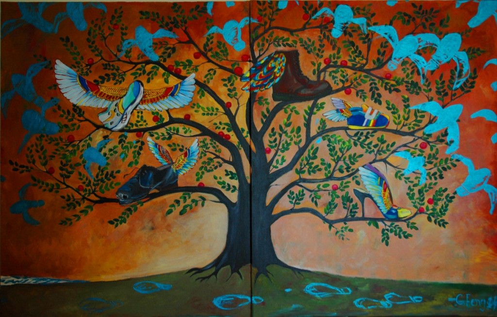 Tree of Life,Acrylic on canvas,100x 180cm,2014 (Medium)